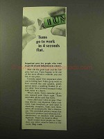 1964 Tums Antacids Ad - Go to Work in 4 Seconds Flat