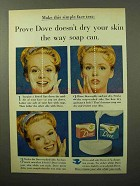 1964 Dove Soap Ad - Doesn't Dry Your Skin