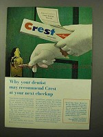 1964 Crest Tooth Paste Ad - Dentist May Recommend