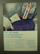 1964 Crest Tooth Paste Ad - At Your Next Checkup