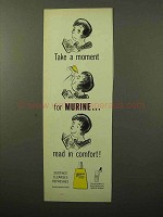 1964 Murine Eye Drops Ad - Read in Comfort