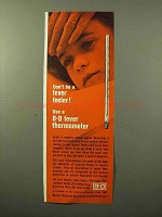 1964 B-D Fever Thermometer Ad - Don't Be a Feeler