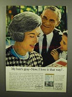 1964 Clairol Come Alive Gray Hair Color Ad