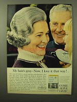 1964 Clairol Come Alive Gray Hair Color Ad - Love It