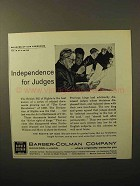 1964 Barber-Colman Company Ad - Independence Judges