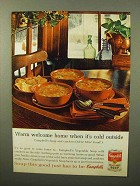1964 Campbell's Vegetable Soup Ad - Warm Welcome