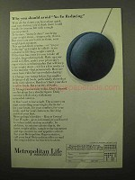 1964 Metropolitan Life Insurance Ad - Yo-Yo Reducing
