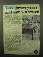 1964 Blue Cross Ad - Members Get Hospital Benefits