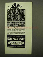 1964 Stardust Hotel Ad - Stardust Package Tour