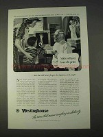 1938 Westinghouse Ad - Mother Will Never Frame Picture