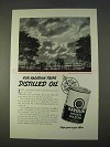 1937 Texaco Havoline Motor Oil Ad - For Vacation Trips