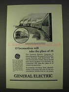 1925 General Electric Ad - 10 Locomotives Take Place
