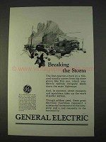 1925 General Electric Ad - Breaking the Storm