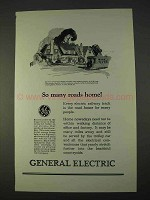 1925 General Electric Ad - So Many Roads Home!