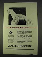 1923 General Electric Ad - Keep that Hand Soft!
