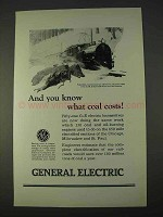1923 General Electric Ad - You Know What Coal Costs!