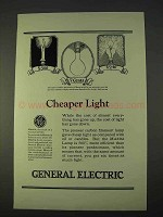 1923 General Electric Ad - Cheaper Light