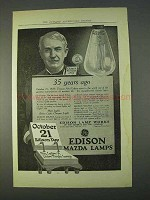 1914 General Electric Edison Mazda Lamps Ad - 35 Years