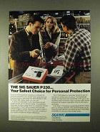 1994 Sigarms Sig Sauer P 230 Pistol Ad - Safest Choice
