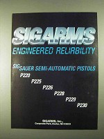 1994 Sigarms Sig Sauer Semi-Automatic Pistols Ad
