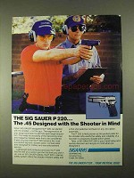 1994 Sigarms Sig Sauer P 220 Pistol Ad, Shooter in Mind
