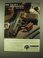 1994 Taurus Model PT-908 Pistol Ad - The Difference