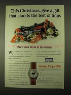 1994 Weaver Scopes Ad - Gift That Stands Test of Time