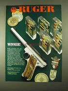 1994 Ruger Competition Model .22 Pistol Ad - Winner!