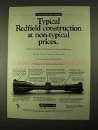 1994 Redfield Golden Five Star Series Scopes Ad