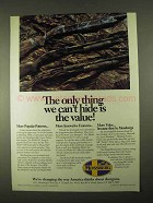 1994 Mossberg Shotguns Ad - Can't Hide the Value