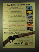 1994 Marlin Rifle Ad - How To Choose a Deer Rifle