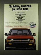 1994 Chevrolet S-Series Pickup Truck Ad - Many Awards