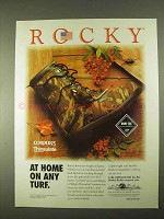 1994 Rocky Boots Ad - At Home On Any Turf
