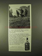 1994 Jack Daniel's Whiskey Ad - In Tennessee Hills