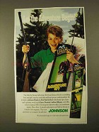 1994 Johnson Field & Stream Adventure Kit Rod & Reel Ad