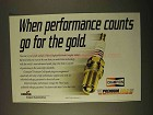 1994 Champion Premium Gold Spark Plug Ad - Go For