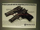 1994 Beretta Model 92F Centurion and 92F Pistols Ad