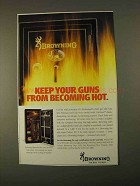 1994 Browning Pro-Steel Gun Safe Ad - Becoming Hot