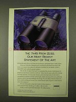 1994 Zeiss 7x45 Binoculars Ad - Recent Statement of Art