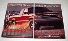 1994 Dodge Dakota Club Cab Pickup Truck Ad - Backpack