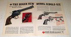 1974 Ruger Single-Six Revolver Ad