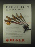 1997 Ruger Target Rifle Ad - No. 1-V, KM77 Mark II +