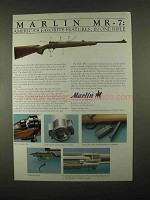 1997 Marlin MR-7 Rifle Ad - America's Favorite Features