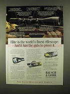 1997 Bausch & Lomb Elite Riflescopes Ad - Guts to Prove