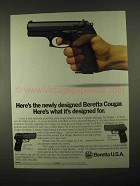 1997 Beretta Cougar Model 8000F and 8040D Pistols Ad