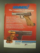 1997 Hammerli 208S and 280 Pistols Ad - Advantage