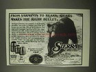 1997 Sierra Bullets Ad - From Varmints to Bears