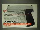1997 Kahr K40 Pistol Ad - Perfect Pocket Pistol