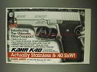 1997 Kahr K40 Pistol Ad - The Ultimate Ultra-Compact
