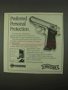 1997 Walther PPK/S Pistol Ad - Preferred Protection